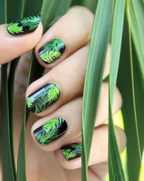 Le unghie si ispirano alla natura